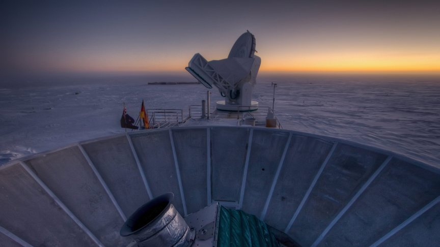 BICEP2 opstelling op Antarctica
