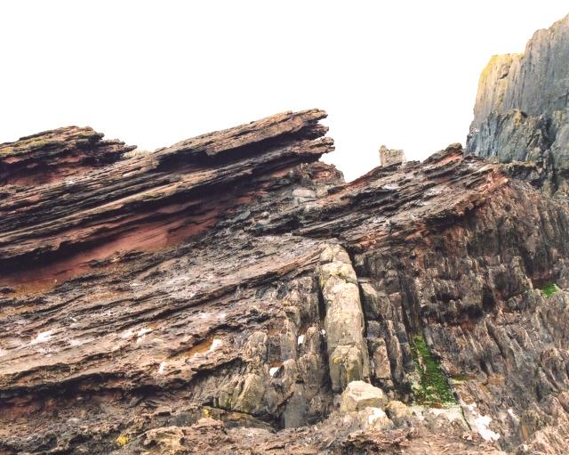 Siccar Point, Hutton's Unconformity (Wikimedia, Anne Burgess)