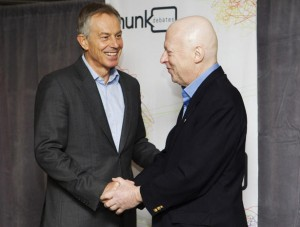 Tony Blair and Christopher Hitchens debate in Toronto